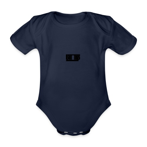 brttrpsmallblack - Organic Short-sleeved Baby Bodysuit