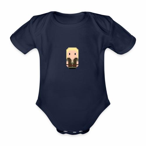Robin Hood blonde hair - Organic Short-sleeved Baby Bodysuit