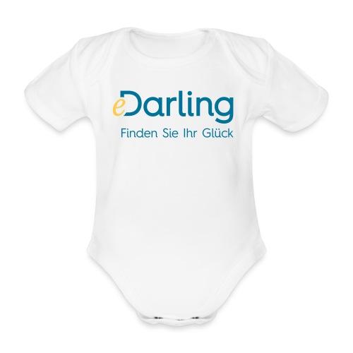 eDarling Logo Dark Claim DE - Baby Bio-Kurzarm-Body