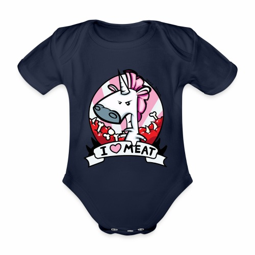 I love Meat by Nina-Nice - Baby Bio-Kurzarm-Body