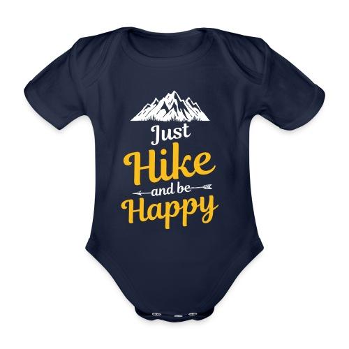 Just Hike And Be Happy Nature-Design für Hiking - Baby Bio-Kurzarm-Body