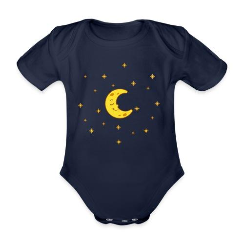 Mond und Sterne - Baby Bio-Kurzarm-Body