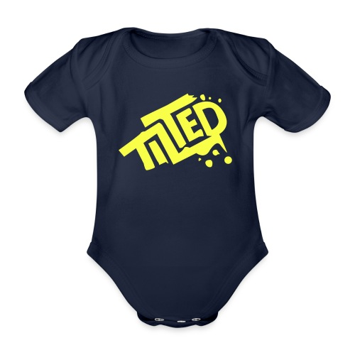 Fortnite Tilted (Yellow Logo) - Organic Short-sleeved Baby Bodysuit
