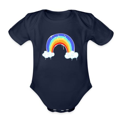 Fortnite Dripping Rainbow - Organic Short-sleeved Baby Bodysuit
