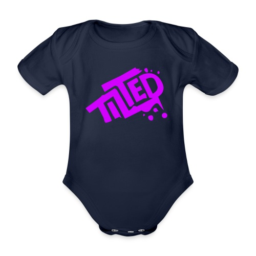 Fortnite Tilted (Pink Logo) - Organic Short-sleeved Baby Bodysuit