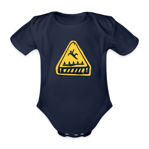 Fortnite Trap Warning - Organic Short-sleeved Baby Bodysuit
