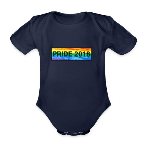 Pride 2018 long design - Organic Short-sleeved Baby Bodysuit