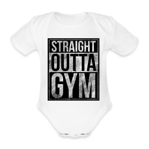 Fitness design - Straight Outta Gym - Organic Short-sleeved Baby Bodysuit