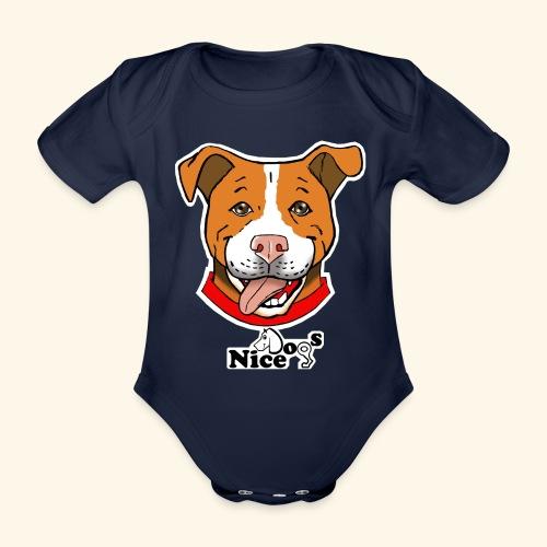 pitbull2 - Body ecologico per neonato a manica corta