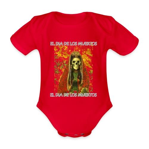 El Dia De Los Muertos Skeleton Design - Organic Short-sleeved Baby Bodysuit