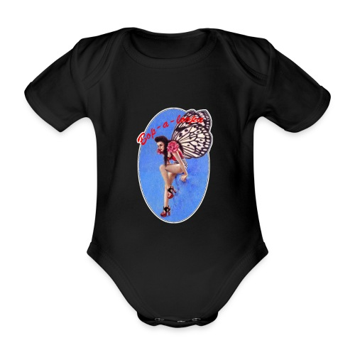 Vintage Rockabilly Butterfly Pin-up Design - Organic Short-sleeved Baby Bodysuit