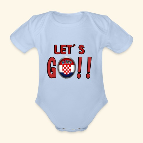 Go Croatia - Body ecologico per neonato a manica corta