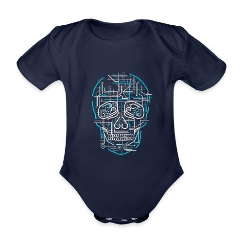 electric skull tshirt ✅ - Baby Bio-Kurzarm-Body