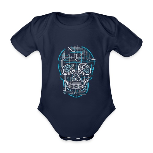 electric skull tshirt ✅ - Baby Bio-Kurzarm-Body