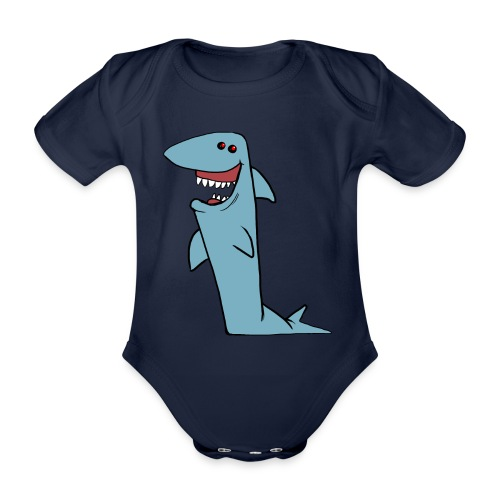 Dotspot di Shark Grin Cartoon - Body ecologico per neonato a manica corta