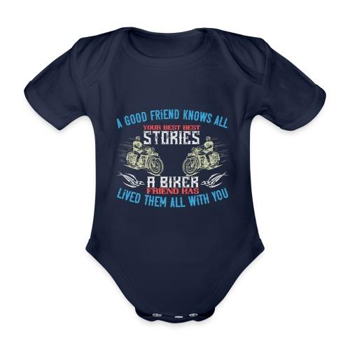 Biker stories. - Organic Short-sleeved Baby Bodysuit