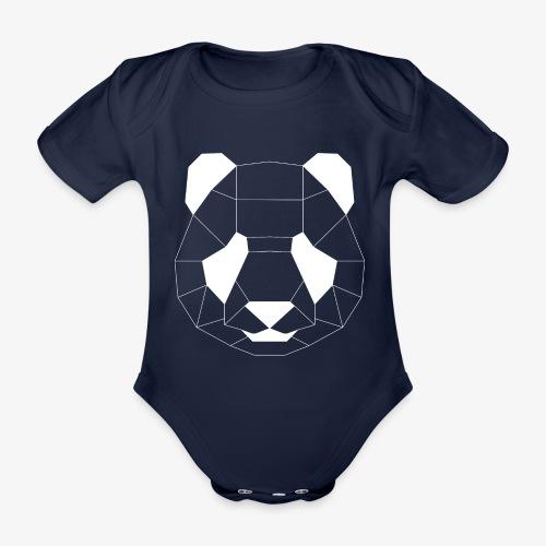 Panda Geometrisch weiss - Baby Bio-Kurzarm-Body