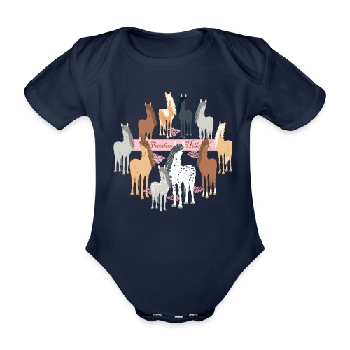 Freedom Hills - Organic Short-sleeved Baby Bodysuit