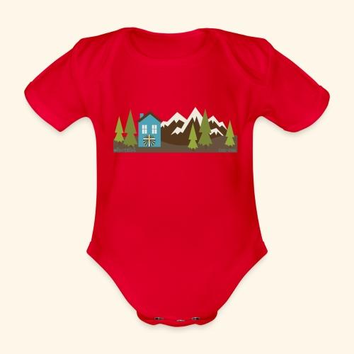 casettaAC - Body ecologico per neonato a manica corta
