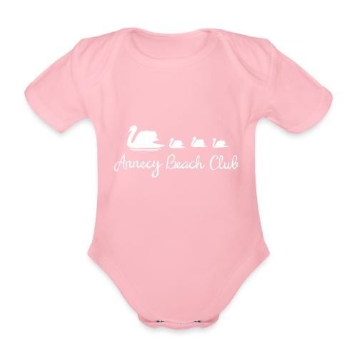 Annecy Beach club - Cygnes - Body Bébé bio manches courtes