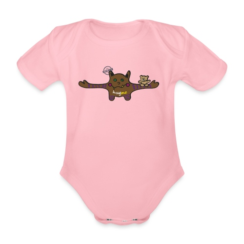 Hug me Monsters - Every little monster needs a hug - Organic Short-sleeved Baby Bodysuit