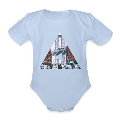 Manhattan Bridge of Brooklyn New York City - Baby Bio-Kurzarm-Body