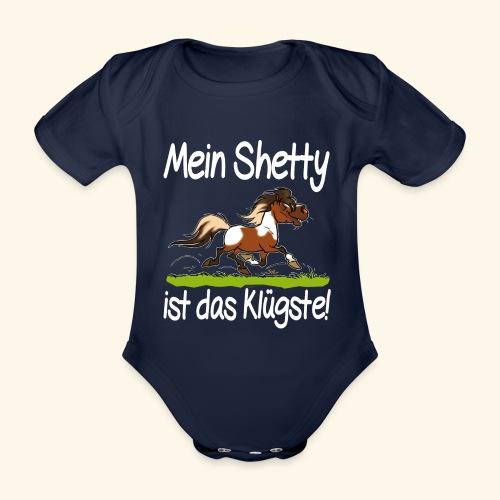 Mein Shetty das Klugste (Text weiss - Body Bébé bio manches courtes
