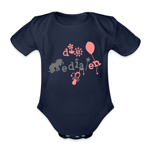 DM Baby Logo Mädchen - Baby Bio-Kurzarm-Body