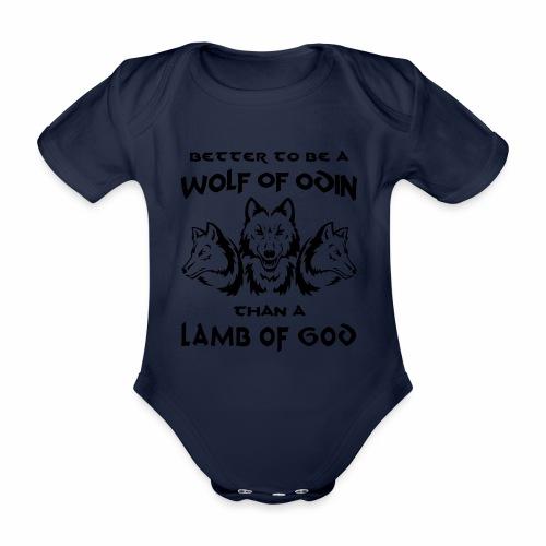 Wolf of Odin - Body orgánico de maga corta para bebé