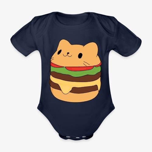 cat burger - Organic Short-sleeved Baby Bodysuit
