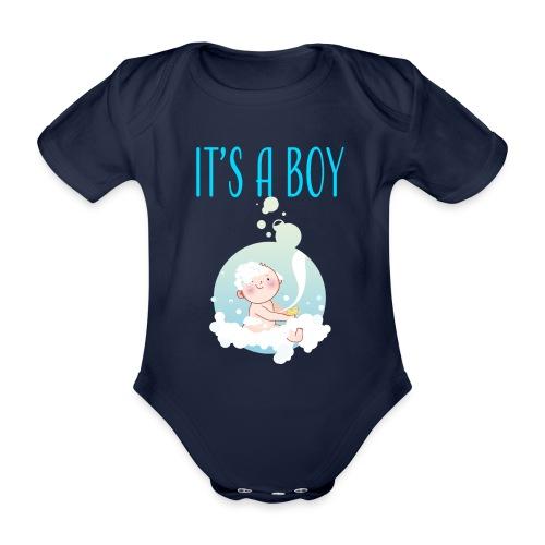 It's a Boy Badewanne. Witzige Umstandsmode T-Shirt - Baby Bio-Kurzarm-Body