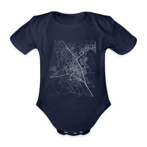 Minimal Las Cruces city map and streets - Organic Short-sleeved Baby Bodysuit