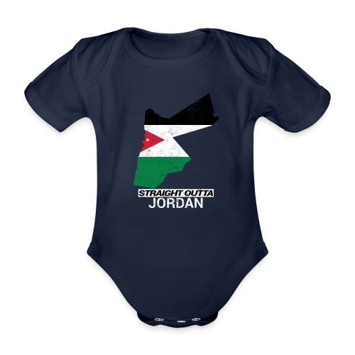 Straight Outta Jordan country map - Organic Short-sleeved Baby Bodysuit