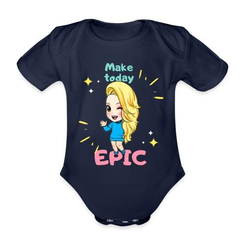 make today epic - Ekologisk kortärmad babybody
