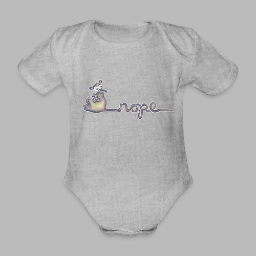 Nope - Organic Short-sleeved Baby Bodysuit