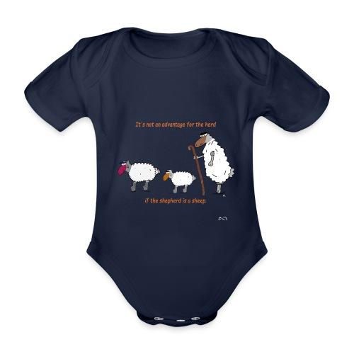 The Shepherd is a sheep - Baby Bio-Kurzarm-Body
