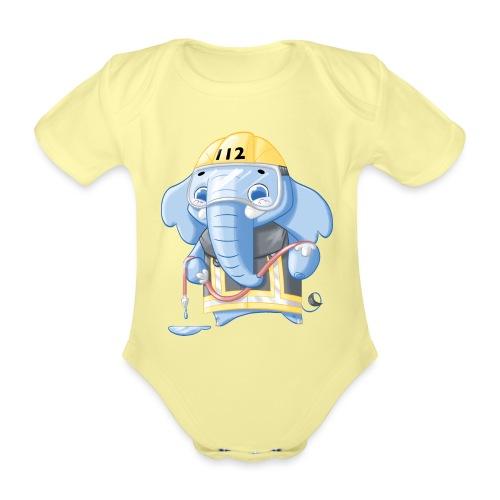 Feuerwehr Elefant - Baby Bio-Kurzarm-Body