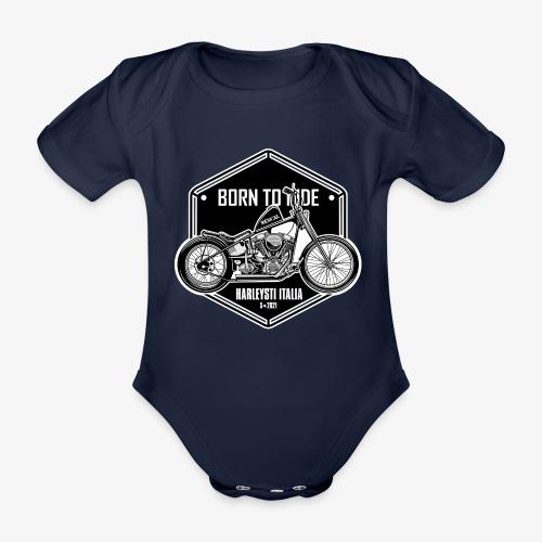 Born to Ride - Vintage motorbike - Body ecologico per neonato a manica corta