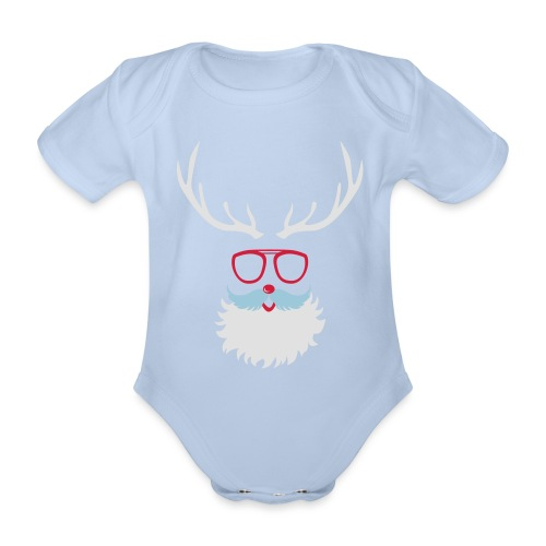Santa Clauss Eye glasses - Body Bébé bio manches courtes