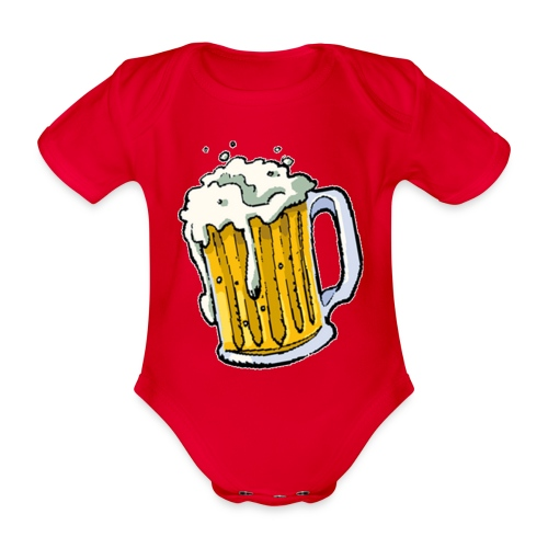 Boccale Birra - Body ecologico per neonato a manica corta