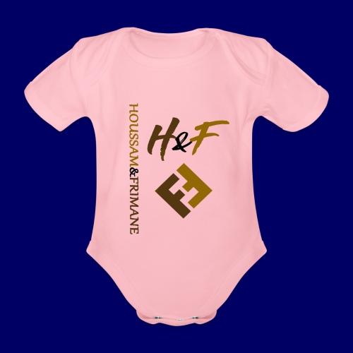 h&F luxury style - Body ecologico per neonato a manica corta