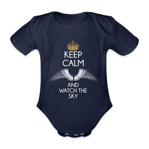 Keep Calm - Ekologiczne body niemowlęce z krótkim rękawem