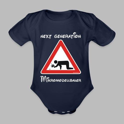 Warnschild Mikromodellbauer Next Generation - Baby Bio-Kurzarm-Body