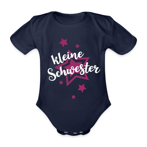 Kleine Schwester Mädchen Babybody Baby Geburt - Baby Bio-Kurzarm-Body