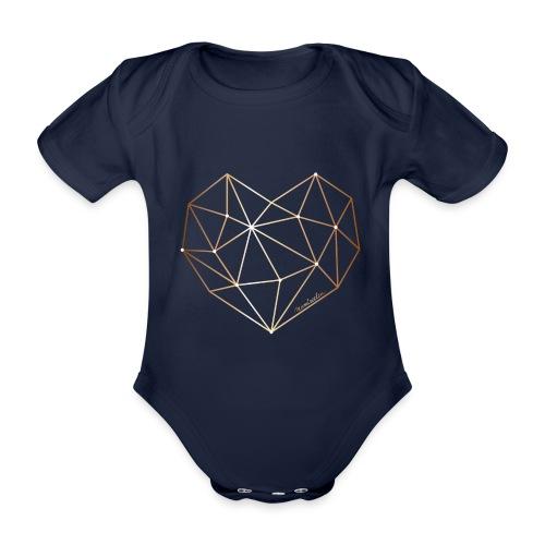 Herz in Diamant, Diamantherz - Baby Bio-Kurzarm-Body