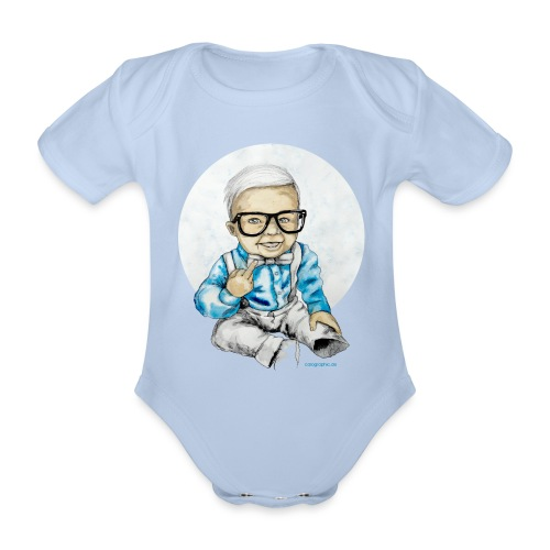 Naughty Boy, carographic - Baby Bio-Kurzarm-Body