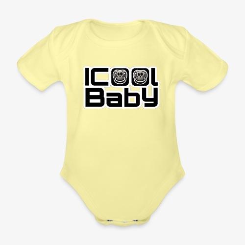 ICoolBaby Eigenlogo - Baby Bio-Kurzarm-Body