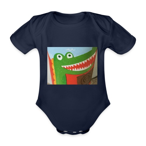 Crocodile - Organic Short-sleeved Baby Bodysuit