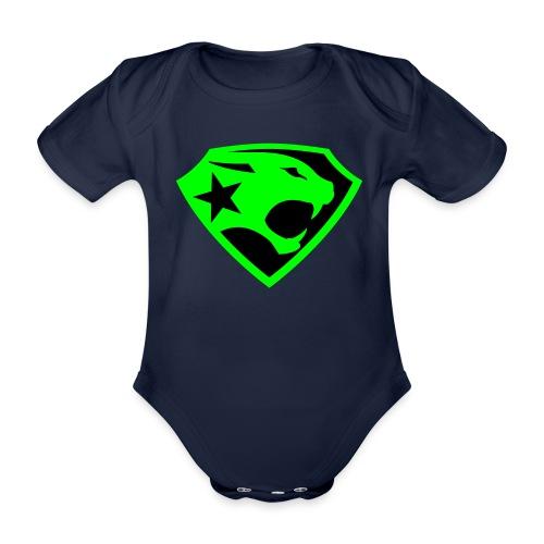 SUPER BLACK PANTHER - Baby Bio-Kurzarm-Body