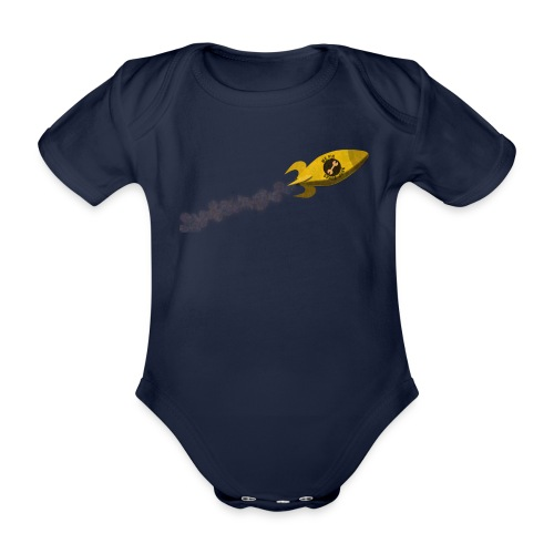 We Fix Space Junk - Organic Short-sleeved Baby Bodysuit